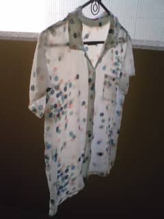 無印のオーガニックコットンシャツ洗いざらしブロードシャツ(2480円)!